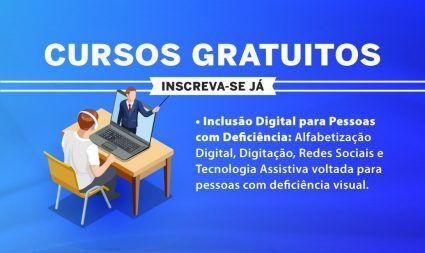 Inscrições abertas para cursos de inclusão digital a pessoas com deficiência - Divulgação/Governo de SP