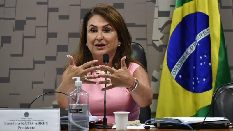 Kátia Abreu pede apoio ao papa para quebra de patentes de vacina da covid-19 - Leopoldo Silva/Agência Senado