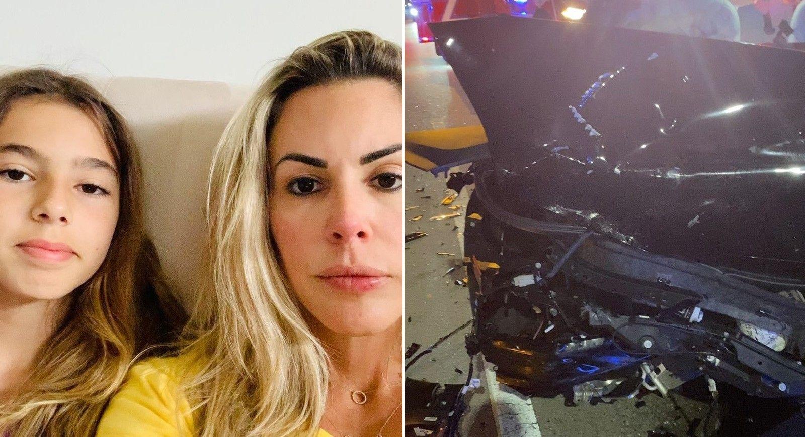 Joana Prado, ex-Feiticeira, sofre acidente de carro com a filha nos EUA - Reprodução