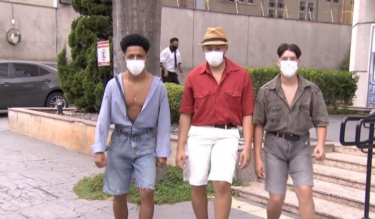 Conheça o trio responsável pela 'dancinha do piseiro' - Divulgação/SBT