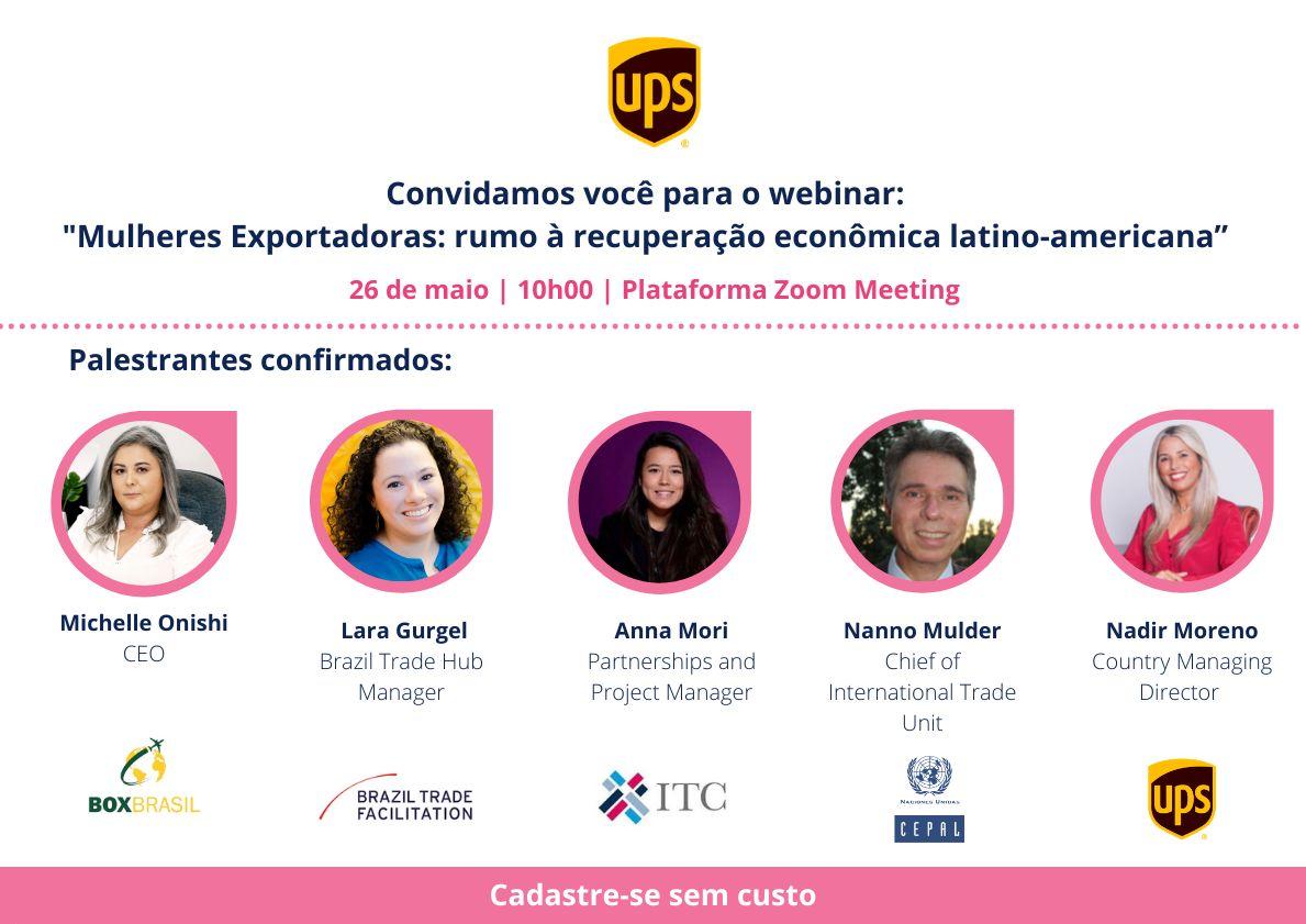 Webinar Mulheres Exportadoras: rumo à recuperação econômica latino-americana -